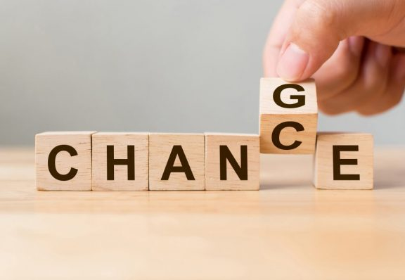 Change and Chance Scrabble letters